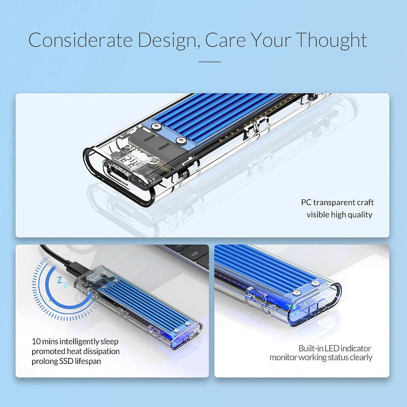 Orico TCM2 C3 M.2 NVMe SSD Enclosure 3