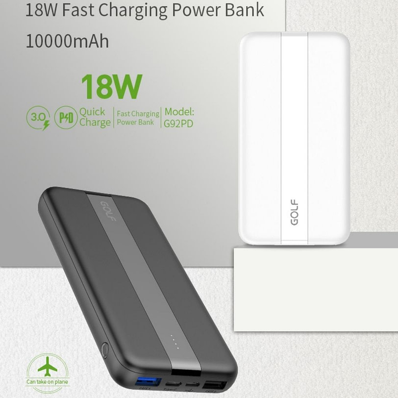 Golf PB G92PD Fat Charge Power Bank Portable Charger 9 1