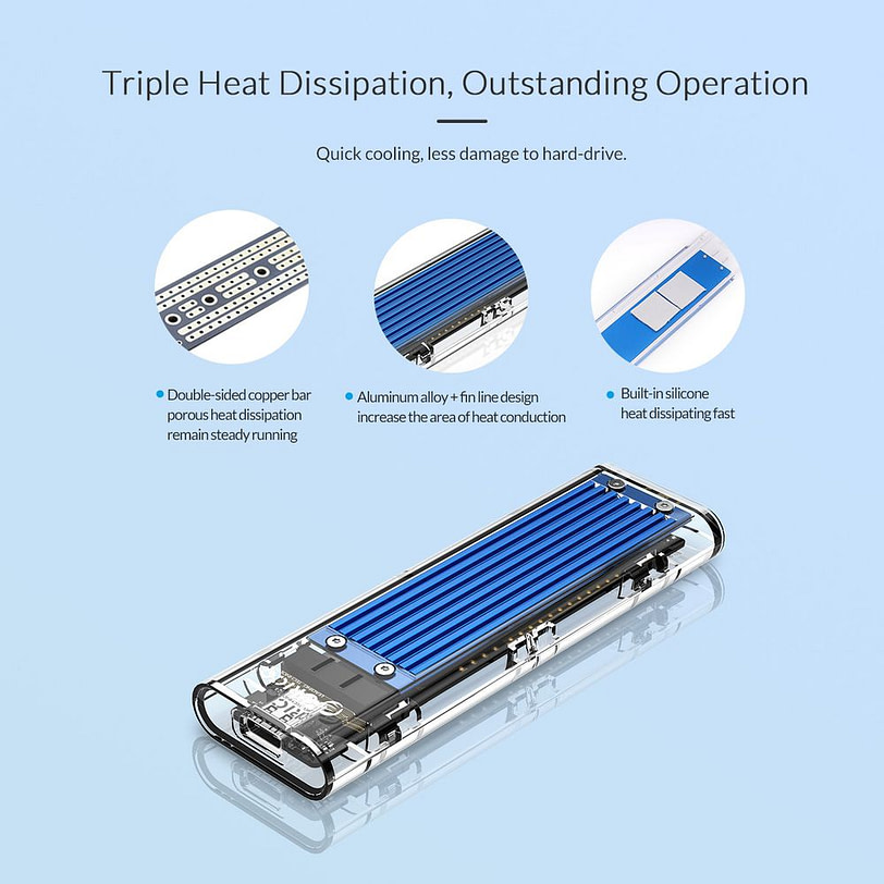 Orico TCM2 C3 M.2 NVMe SSD Enclosure 4