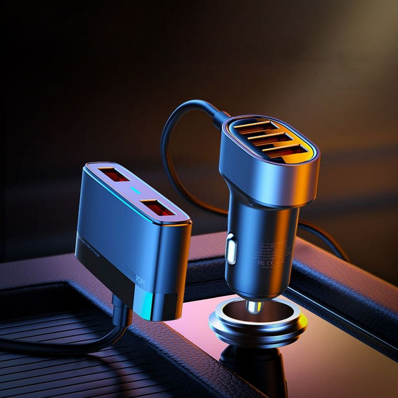 Joyroom JR CL03 5 Multi Ports USB Car Charger 4 1