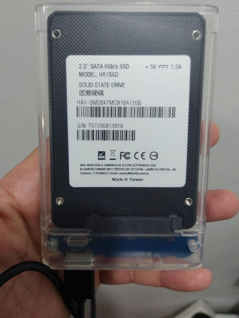 120GB in USB3.0 Enclosure