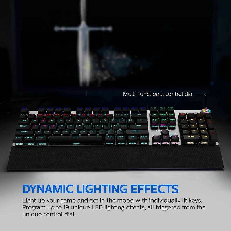 Philips SPK8614 Mechanical Gaming Keyboard with Wrist Rest Detail 05