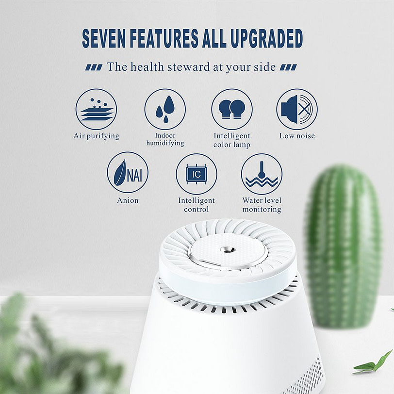 K9 Air Humidifier Indoor Air Purifier White 18 3