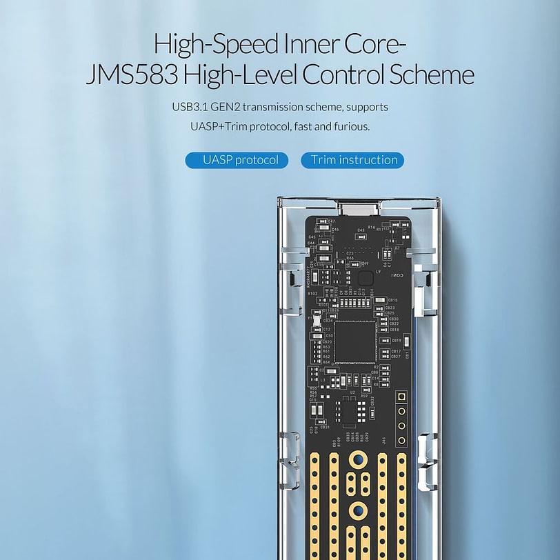 Orico TCM2 C3 M.2 NVMe SSD Enclosure 7