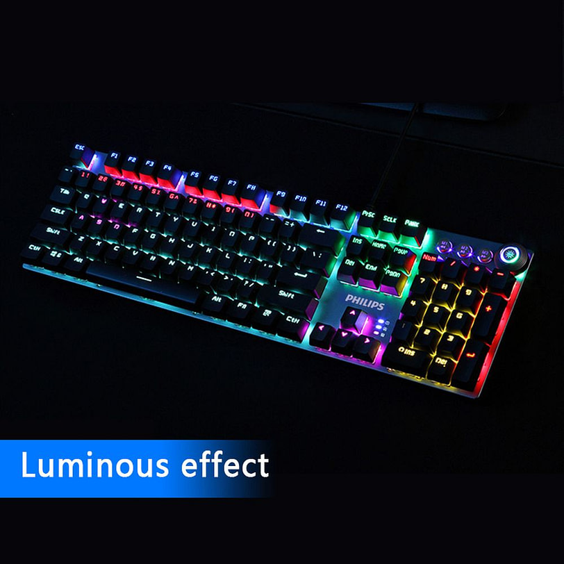 Philips SPK8614 Mechanical Gaming Keyboard with Wrist Rest Detail 13