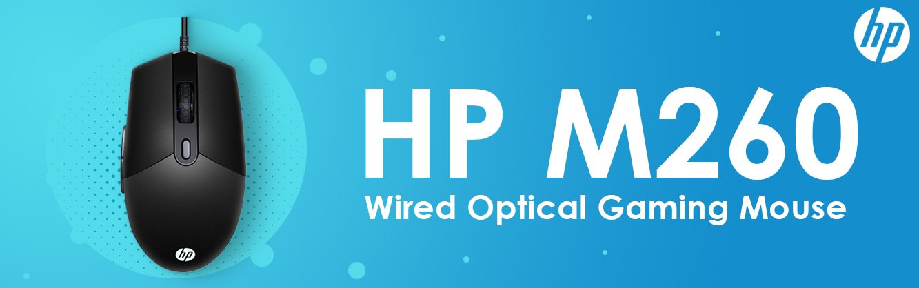 HP M260 Wired Optical RGB Gaming Mouse Detail 01