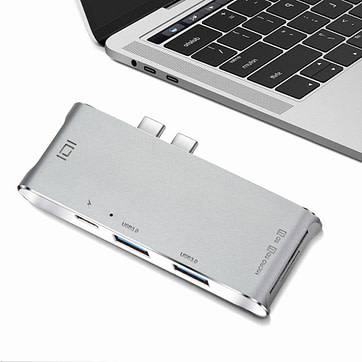YC 204B 6 in 1 Type C MacBook Adapter 04