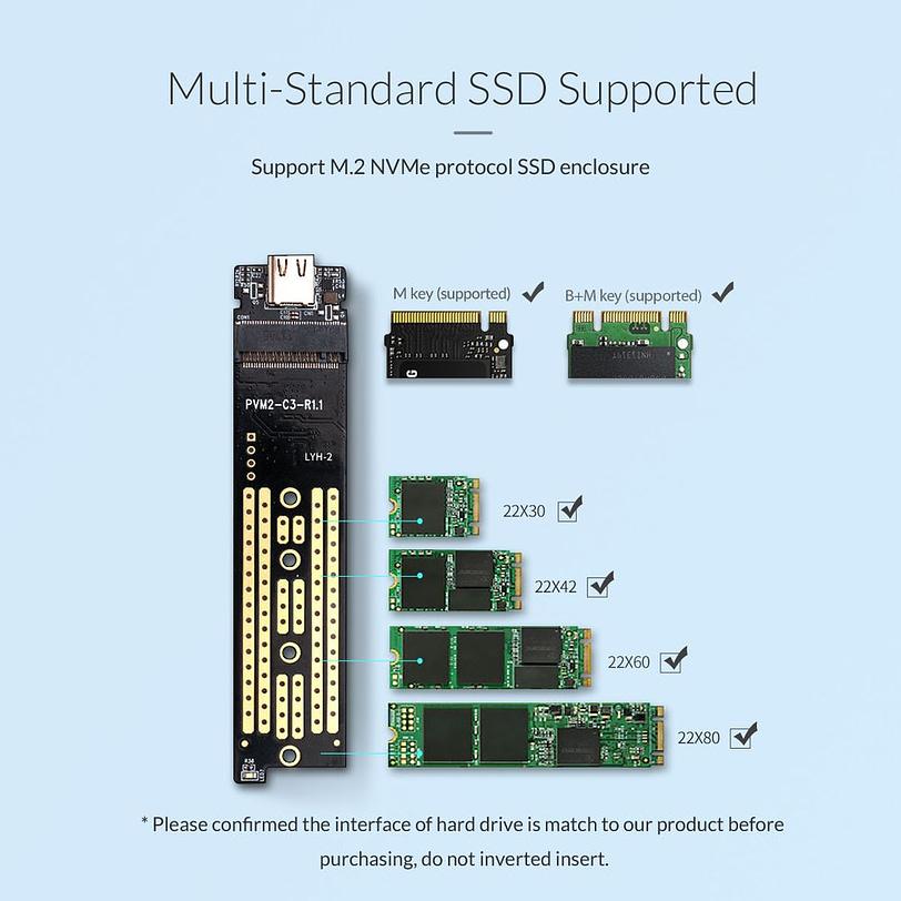 Orico TCM2 C3 M.2 NVMe SSD Enclosure 5