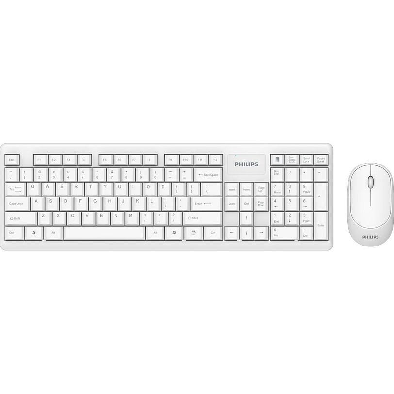 Philips SPT6314 Compact Wreless Keyboard and Mouse White 02