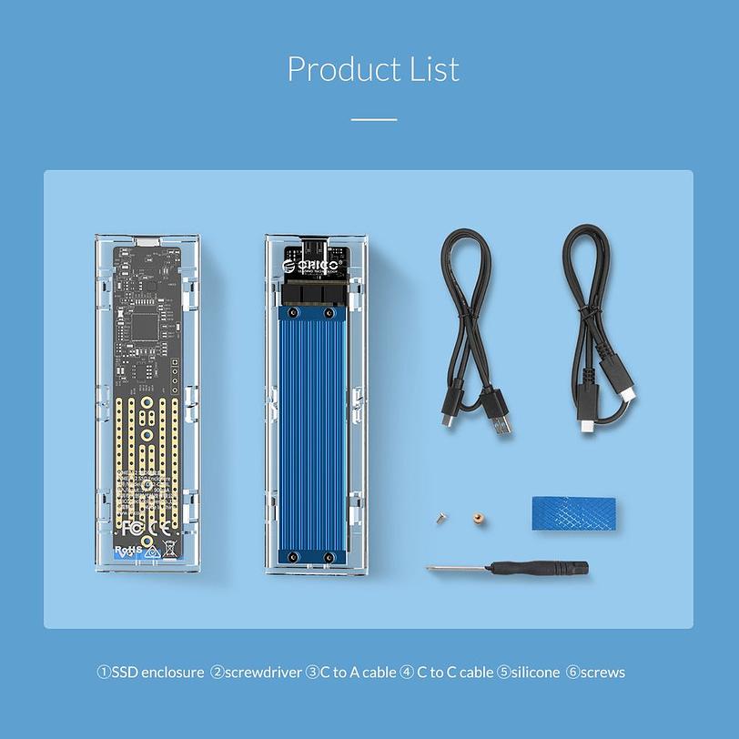Orico TCM2 C3 M.2 NVMe SSD Enclosure 2
