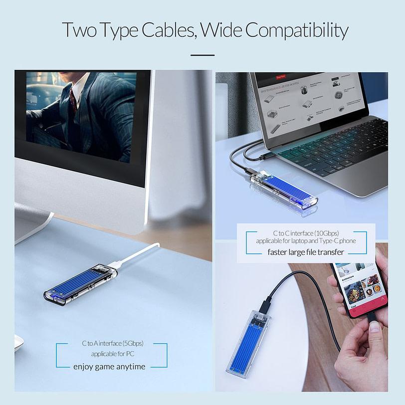 Orico TCM2 C3 M.2 NVMe SSD Enclosure