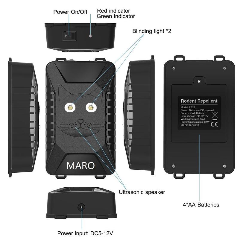 AR28 Battery Operated Ultrasonic Pest Repeller 4
