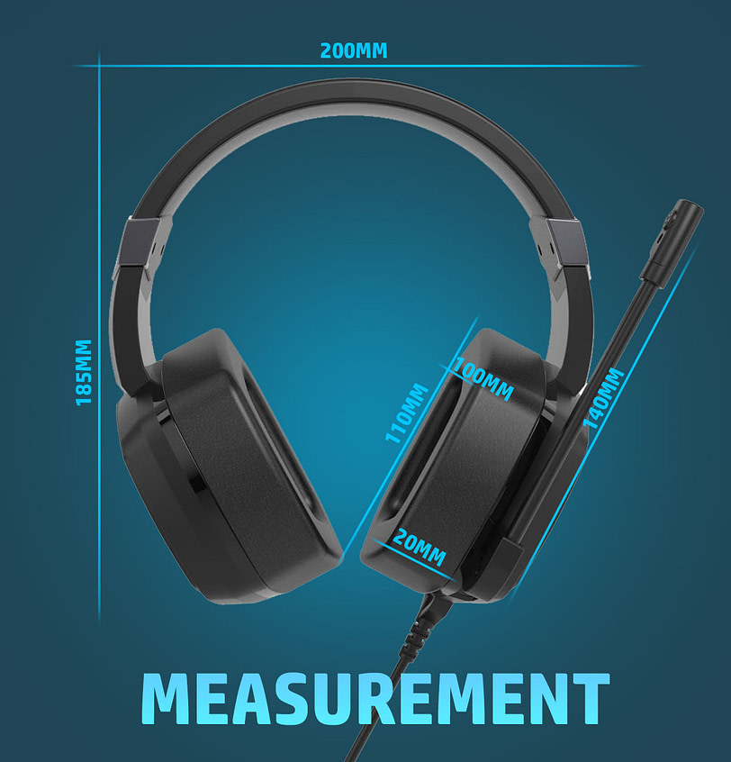 HP H320GS Stereo Gaming Headset with Microphone 3