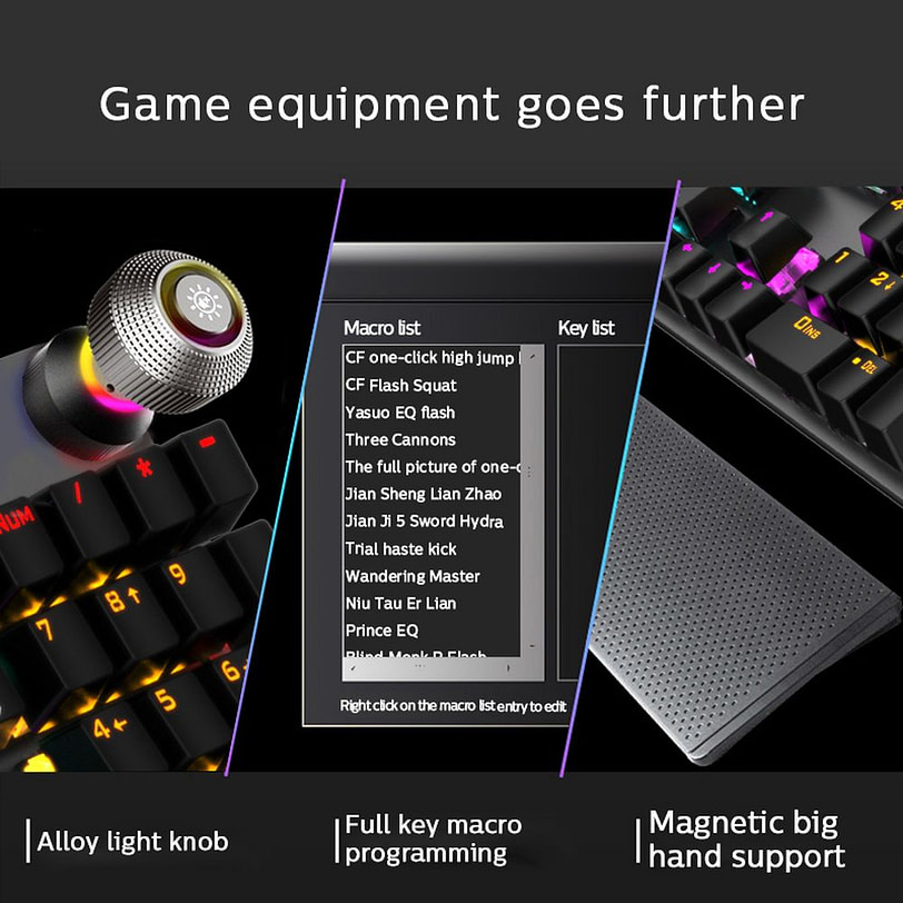 Philips SPK8614 Mechanical Gaming Keyboard with Wrist Rest Detail 07