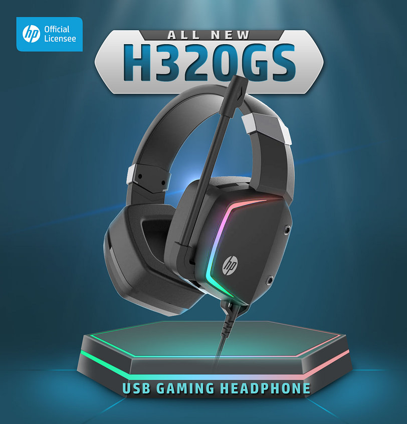 HP H320GS Stereo Gaming Headset with Microphone 1